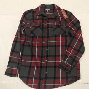 Arizona Flannel Shirt Boys SZ XL 14/16 NWT